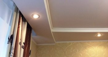 Короб из гипсокартона на потолке под натяжной потолок
