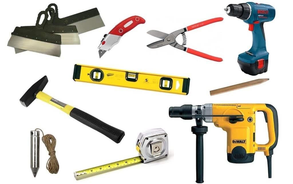 Материалы и инструменты для монтажа гипсокартонного короба | Короб из гипсокартона на потолке под натяжной потолок
