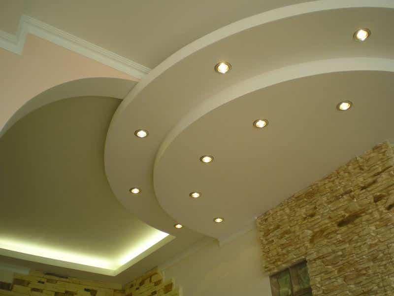 Виды гипсокартонных потолков | Короб из гипсокартона на потолке под натяжной потолок