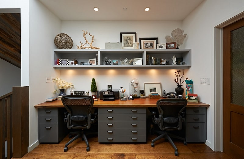 Концепции | Расположение светильников в кабинете