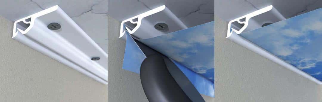 Потолочный профиль | На сколько опускается натяжной потолок, как уменьшить его высоту
