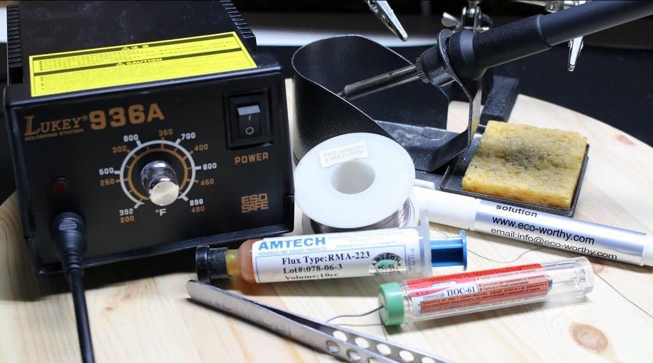 Необходимые инструменты для пайки | Светодиодная лента под натяжным потолком