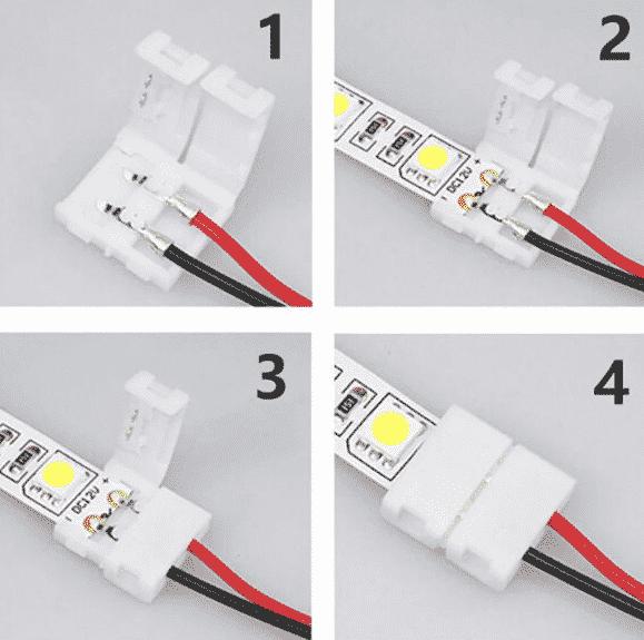 Использование коннекторов для светодиодной ленты | Светодиодная лента под натяжным потолком