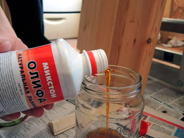 Характеристики олифы | Чем разбавить загустевшую олифу: натуральную, оксоль, синтетическую