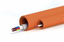 Как протянуть кабель в гофру с проволокой и без проволоки