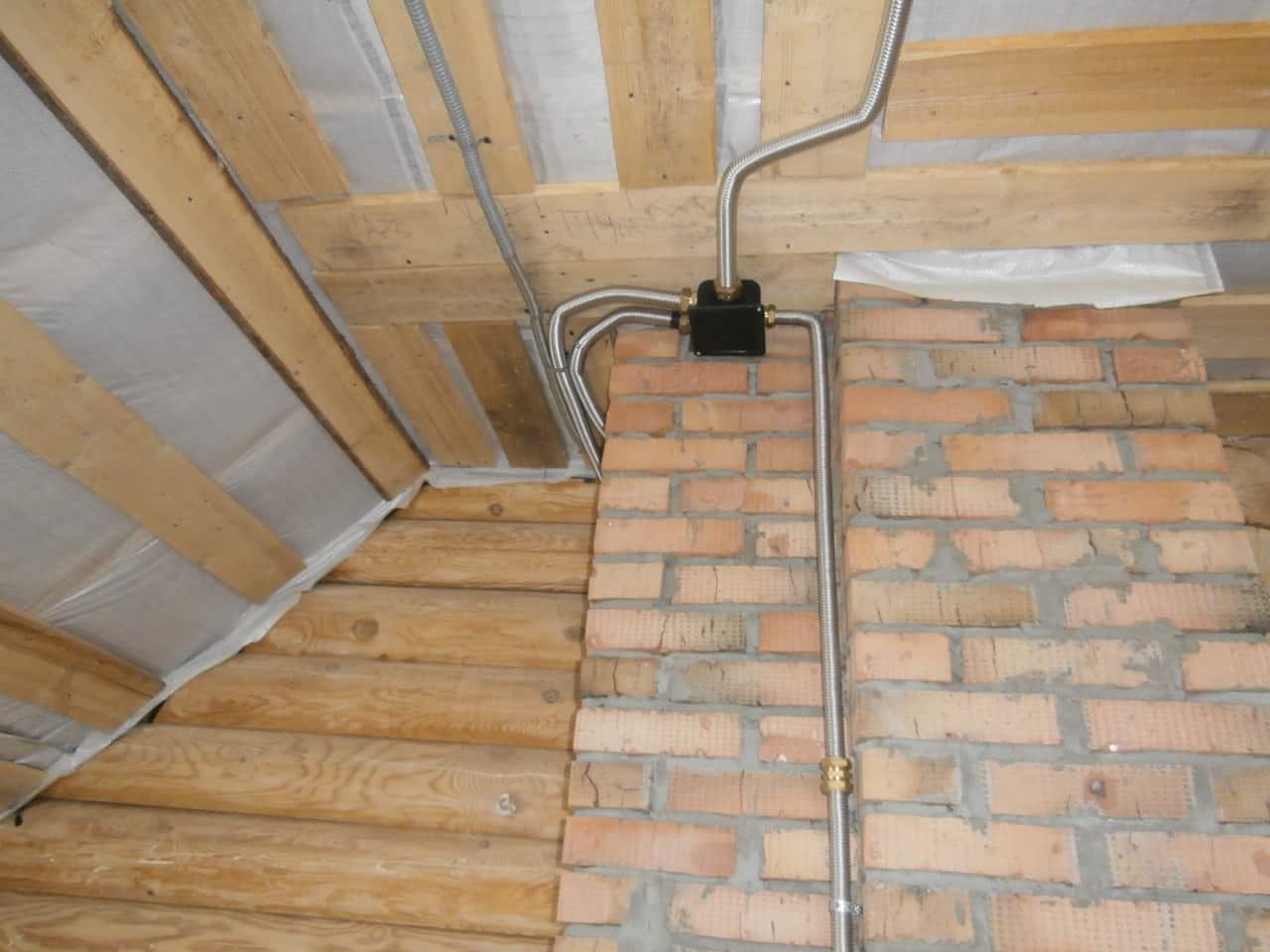 Монтаж электрической проводки в гофре — требования | Как протянуть кабель в гофру с проволокой и без проволоки