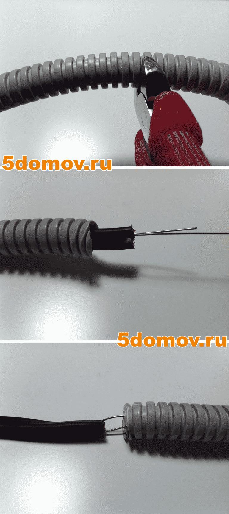 Полезные советы по монтажу кабеля в гофре | Как протянуть кабель в гофру с проволокой и без проволоки